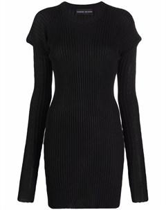 Трикотажное платье в рубчик Barbara bologna