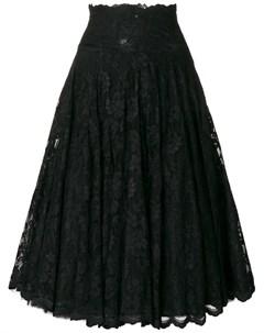 Olvi s расклешенная кружевная юбка 40 черный Olvi`s