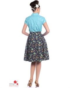 Блуза цвет голубой Ksenia knyazeva