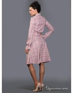 Платье цвет розовый бежевый Ksenia knyazeva