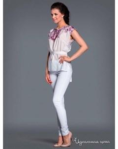Блуза цвет фиолетовый белый Ksenia knyazeva