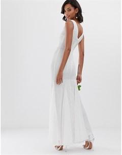Платье макси с годе bridal City goddess