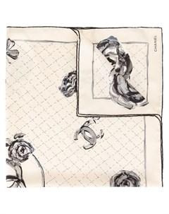 Chanel vintage платок с логотипом Chanel vintage