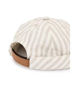 Beton cire шапка в полоску с подворотом Beton cire