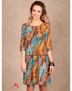 Платье цвет оранжевый голубой Bravissimo