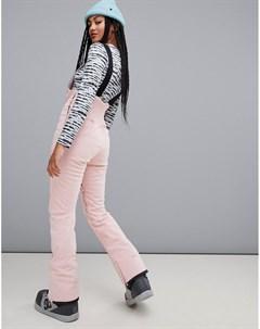 Розовые горнолыжные брюки Riva Bib Розовый Billabong