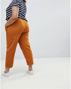 Чиносы в винтажном стиле цвета охры ASOS DESIGN Curve Оранжевый Asos curve