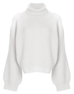 Fine edge свитер с высоким воротником с ребристой фактурой нейтральные цвета Fine edge