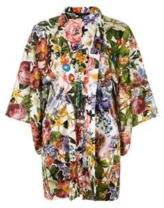 Ermanno gallamini жакет кимоно с цветочным рисунком m разноцветный Ermanno gallamini