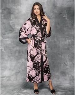 Халат с рукавами 3 4 Tender Roses primrose pink 3 Incanto