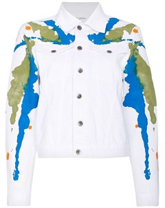 Mirco gaspari джинсовая куртка с пятнами краски Mirco gaspari