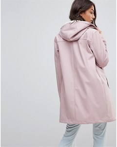 Дождевик на подкладке из искусственного меха ASOS DESIGN Tall Розовый Asos tall