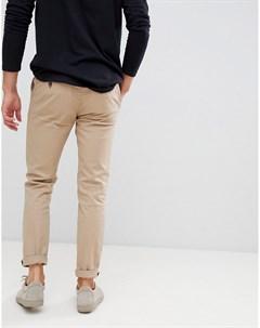 Светло коричневые чиносы скинни Burton menswear