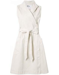 Margaret howell платье с запахом и завязками на талии нейтральные цвета Margaret howell