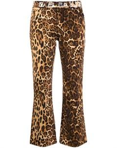 Gaelle bonheur расклешенные брюки с леопардовым принтом Gaelle bonheur