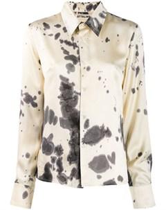 Ottolinger атласная рубашка с принтом тай дай нейтральные цвета Ottolinger