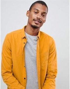 Желтая рубашка с воротником на пуговицах Pete Золотой Dr denim