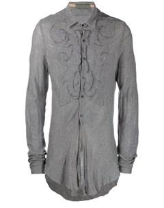 Di liborio рубашка в рубчик с вышивкой Di liborio