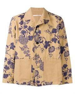 Ermanno gallamini куртка рубашка с цветочным принтом нейтральные цвета Ermanno gallamini