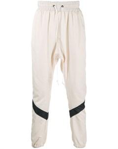 Daniel patrick спортивные брюки с лампасами l белый Daniel patrick