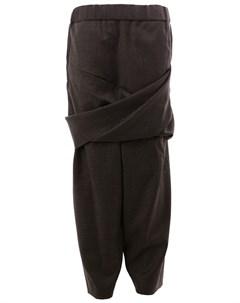 Moohong брюки с запахом 44 серый Moohong