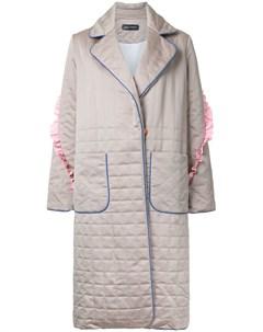 Anna october стеганое пальто нейтральные цвета Anna october