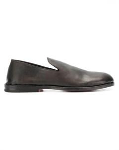 Measponte лоферы с миндалевидным носком 42 коричневый Measponte