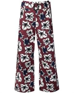 s max mara укороченные брюки с цветочным принтом S max mara