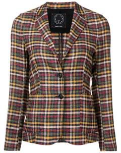 T jacket приталенный блейзер в клетку T jacket