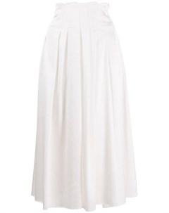 Jourden плиссированная атласная юбка нейтральные цвета Jourden