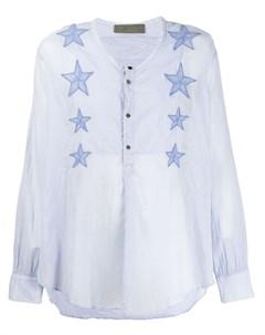 Di liborio рубашка с вышивкой 48 синий Di liborio