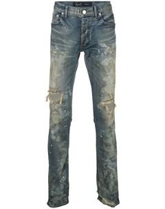 Fagassent джинсы скинни с эффектом потертости 30 синий Fagassent