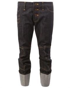 Christopher nemeth укороченные джинсы с подворотами l синий Christopher nemeth