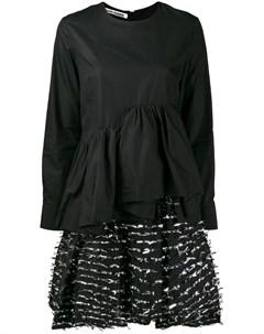 Jourden многослойное платье из филькупе 42 черный Jourden