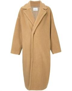 08sircus однобортное пальто в стиле оверсайз