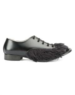 Christopher nemeth ботинки дерби с ворсистой отделкой 23 черный Christopher nemeth
