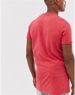 Удлиненная футболка Красный Superdry