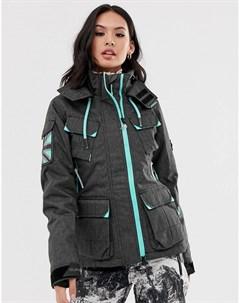 Горнолыжная куртка Snow Service Черный Superdry