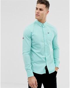 Зеленая оксфордская рубашка с карманом Зеленый Superdry