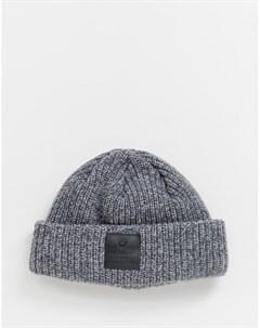 Серая шапка бини Downtown Серебряный Superdry