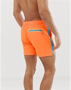 Оранжевые шорты для плавания Оранжевый Superdry