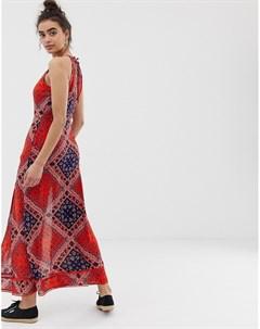 Платье макси с принтом пейсли Мульти Superdry