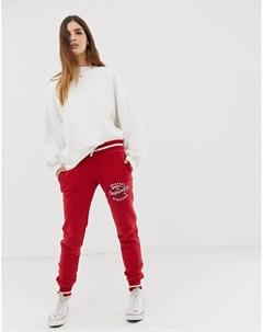 Красные спортивные штаны узкого кроя Красный Superdry