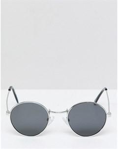 Круглые солнцезащитные очки в серебристой оправе inspired Серебряный Reclaimed vintage