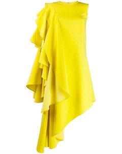 Robert wun платье асимметричного кроя с оборками xs желтый Robert wun