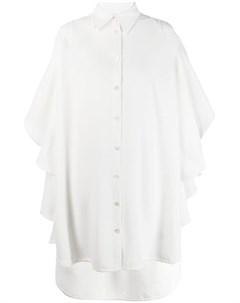 Robert wun платье рубашка с оборками s белый Robert wun