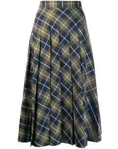 Margaret howell плиссированная юбка в клетку Margaret howell