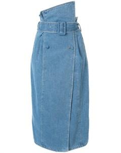 Anna october джинсовая юбка асимметричного кроя Anna october