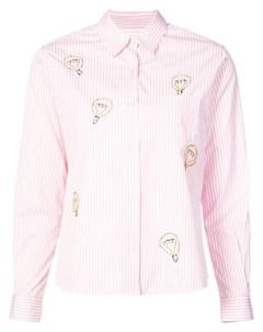 Jimi roos рубашка в полоску m розовый Jimi roos
