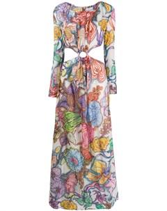 Daizy shely платье макси с цветочным принтом 42 фиолетовый Daizy shely